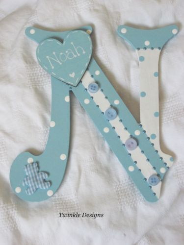 Shabby-personalised-baby-girl-boy-christening-gift-wooden-wall-letter-name-sign