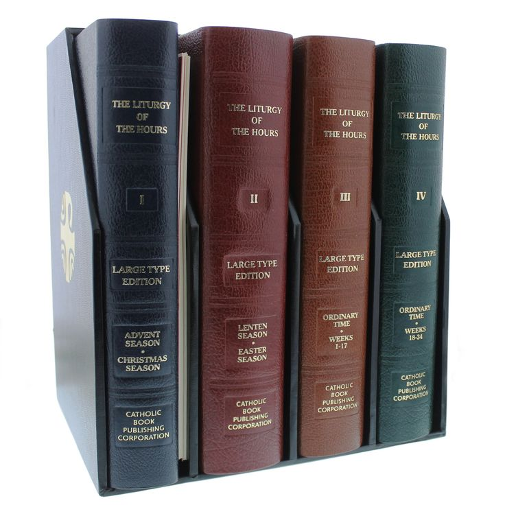 The Liturgy of the Hours - Set of 4 Volumes | The Catholic Company - the best way to start a daily prayer routine is with the Divine Office!
