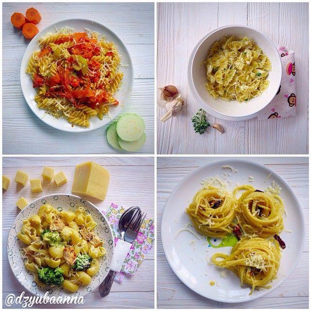 Комплекс 30. Макаронный микс. 1. Фузилли с овощами (можно с 1,5 лет) 2. Фарфале в сырном соусе (можно с 2-х лет) 3. Улитки (пипе ригате) с курицей и брокколи в сливочном соусе (можно с 2-х лет) 4. Спагетти карбонара (можно с 5 лет)