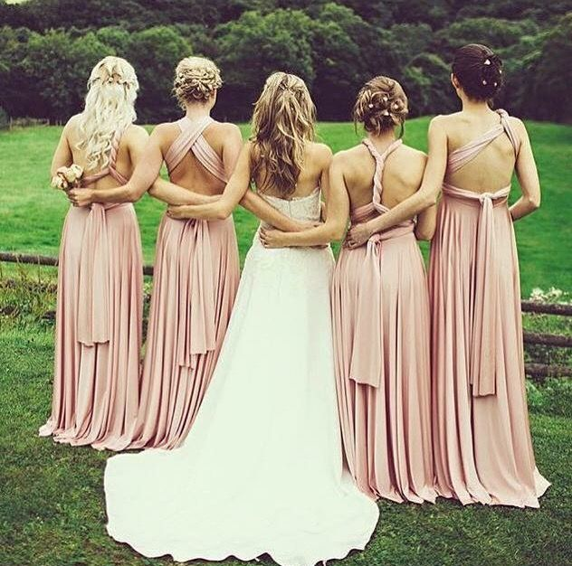 Loving the colour choice and the styles. Photo perfection. Zeredah Convertible Dresses available in Perth at Nora and Elle Bridesmaids.