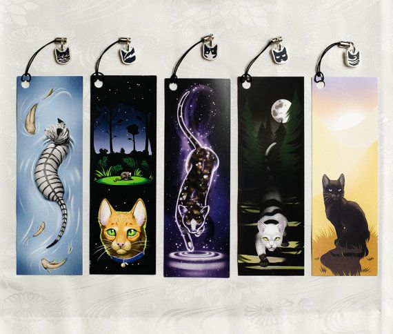 Warriors Cats Bookmarks ~ ThunderClan, RiverClan, WindClan, ShadowClan, StarClan