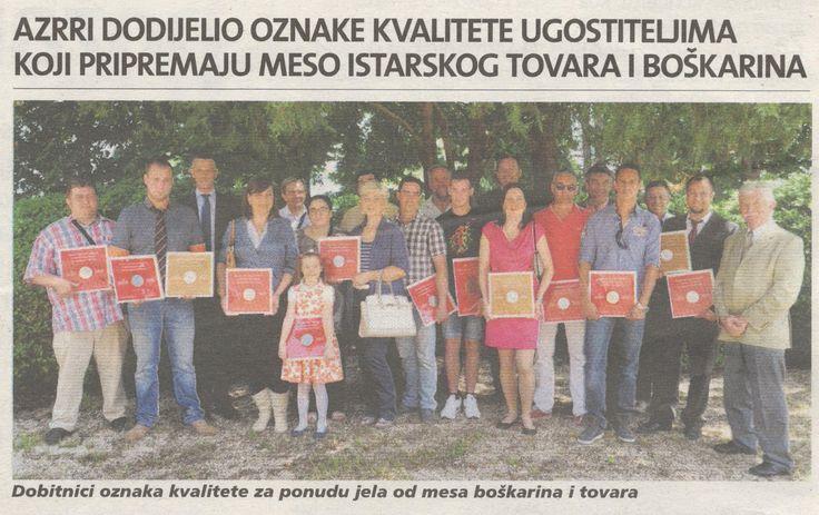 Quolity award for Gatto Nero and Lady Chef Jasna