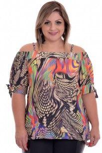 Blusa Plus Size Ciganinha Color