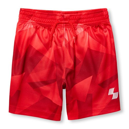 s Toddler Boys Place Sport Geometric Print Mesh Shorts - Red - The Children's Place