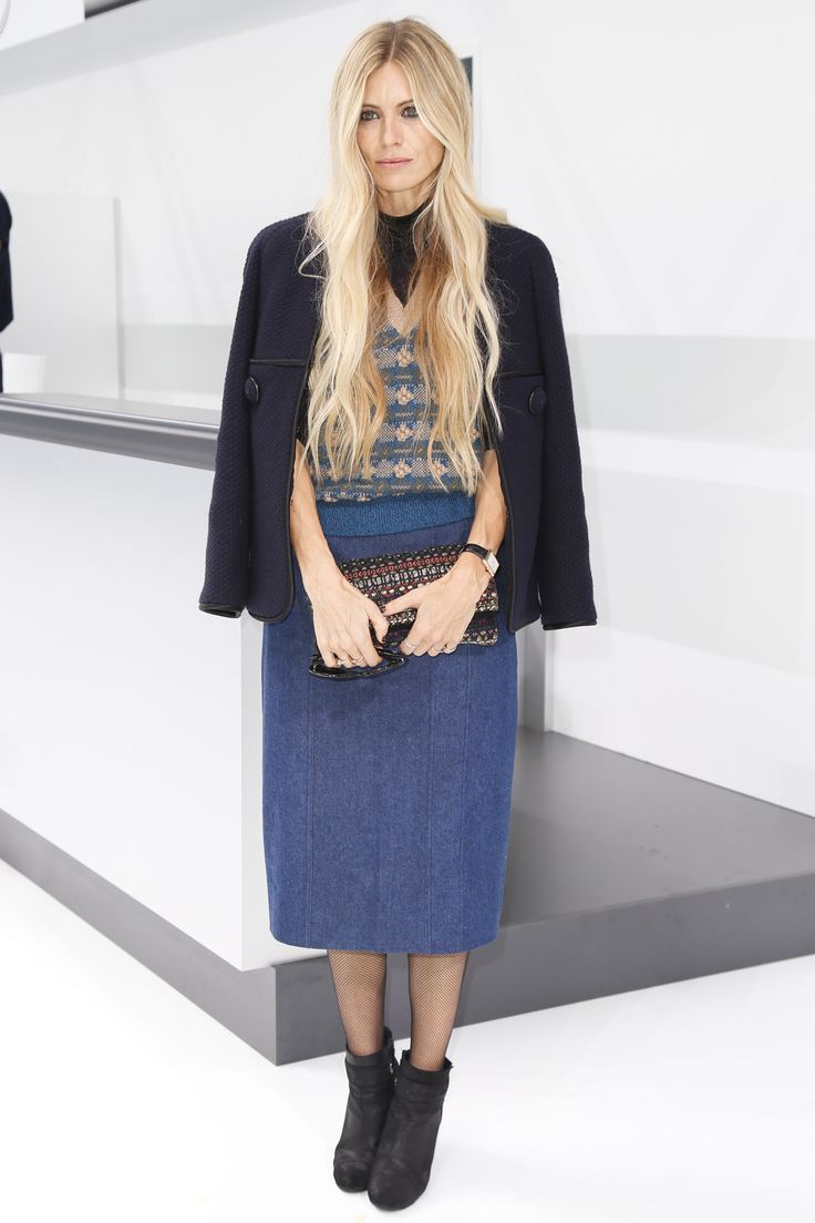 Laura Bailey front row at Chanel Spring 2016