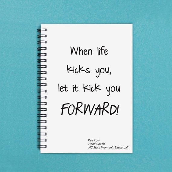 When Life Kicks You Let it Kick You by FlamingoRoadJournals, $6.00