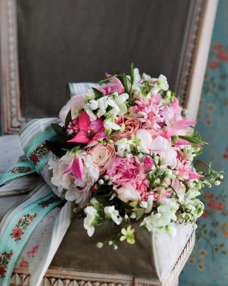 "See the ""Budding Romance"" in our Pretty in Pink Wedding Bouquet Ideas  gallery"