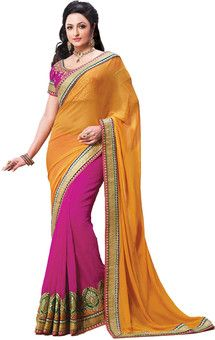 Aparnaa Self Design Embroidered Embellished Viscose Sari: Sari  MRP: Rs. 16,847 Rs. 10,951 34% OFF Selling Price EMI starts from Rs. 531 ? (Free delivery)