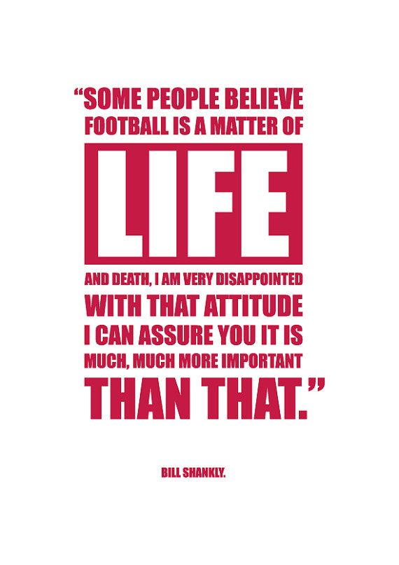 A3 Bill Shankly 'LIFE' quote digital print by kamcdermott74, $43.00