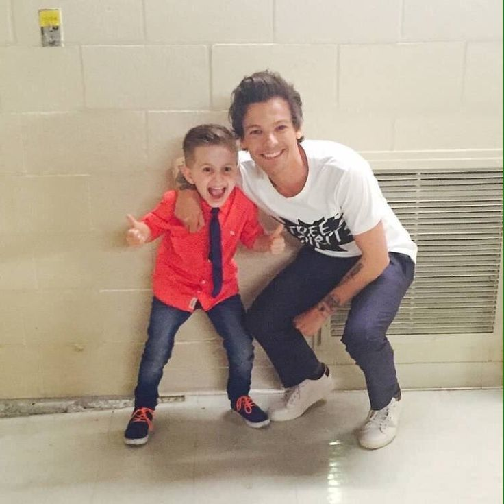 Louis backstage at America's Got Talent