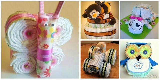 donneinpink magazine: 8 tutorial per realizzare torte di pannolini di fo...