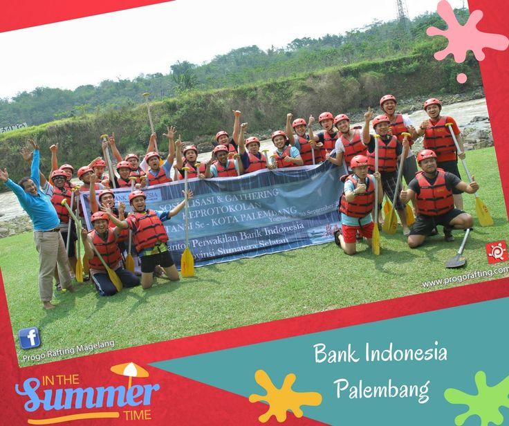 Terimakasih atas kepercayaan dan kunjungannya Sobat Progo dari Bank Indonesia Palembang. Telah bergabung bersama Progo Rafting untuk kegiatan berarung jeram. Semoga fresh kembali dan Sampai bertemu di kegiatan selanjutnya^^ Informasi dan Reservasi  WA /Telf : 089697321321 WA /Telf : 085743148452 WA /Telf : 081511118089 .  www.progorafting.com