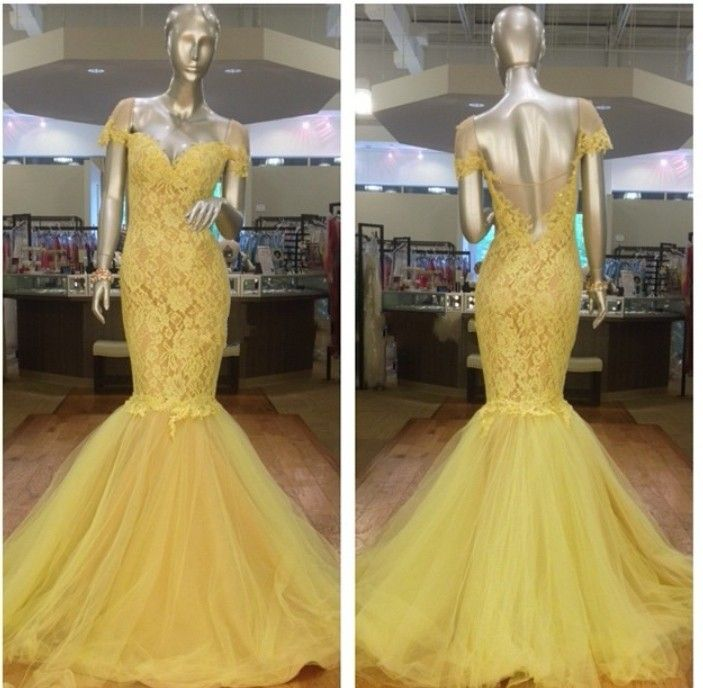 New Arrival Prom Dress,Modest Prom Dress,Stunning Yellow Off