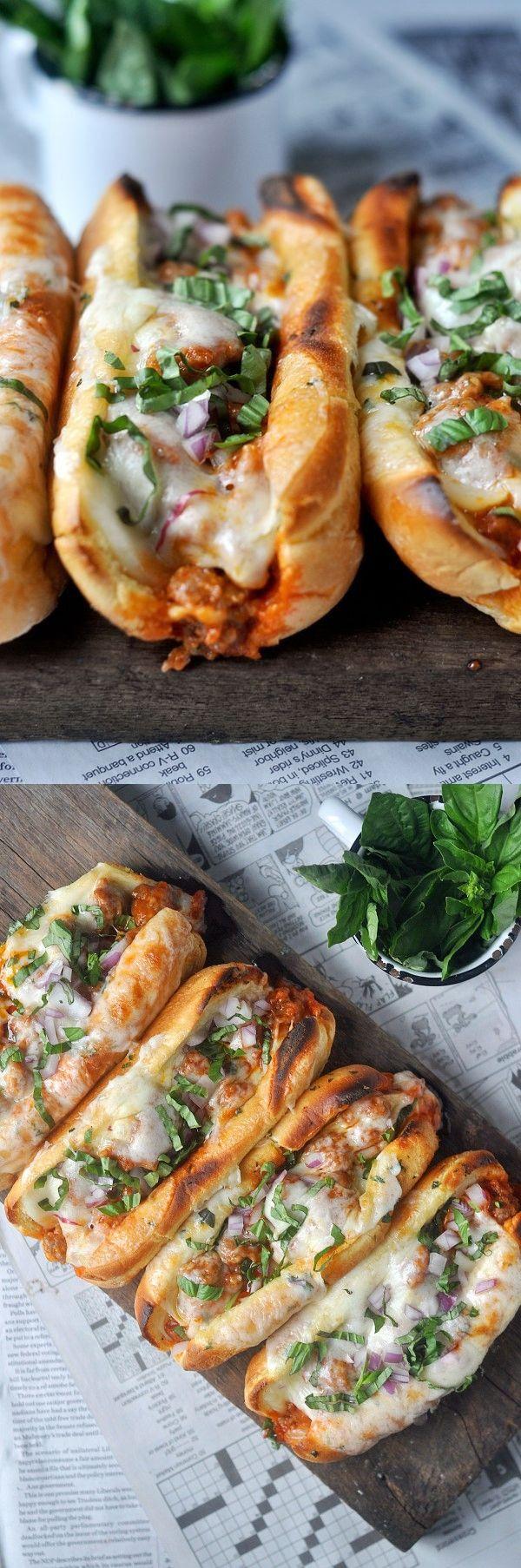 Garlic Butter Italian Sausage Sandwiches