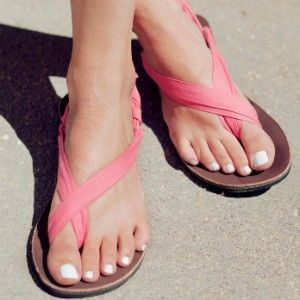 breast cancer ribbon sandals!