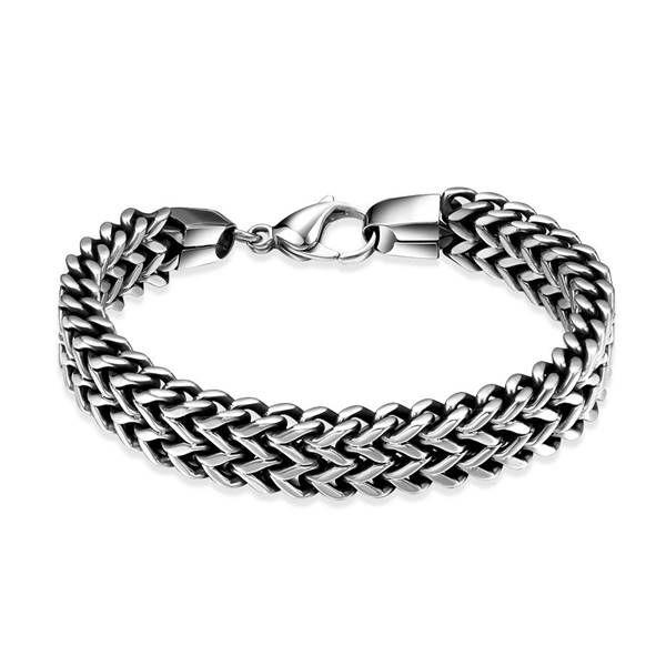 Змея стили высокое качество мужчины браслеты звено цепи H025 Моды 316L браслет из нержавеющей стали для человека купить на AliExpress