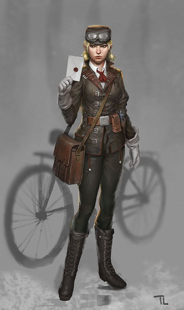 Delivery Girl by timmi-o-tool.deviantart.com on @DeviantArt