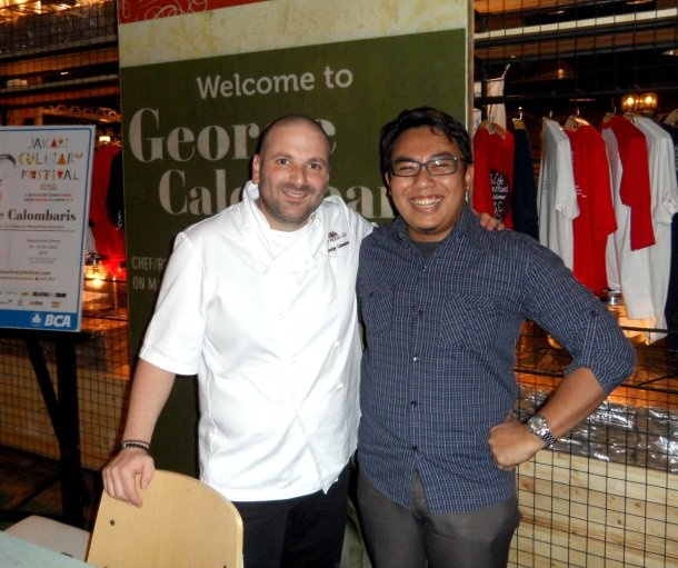 With George Calombaris at JCF 2012