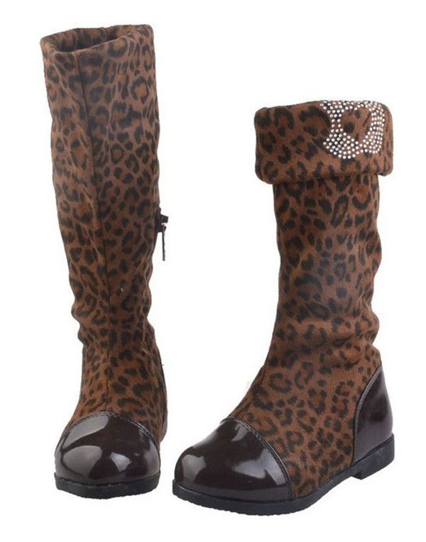 Cheap boots print, Buy Quality shoe documentary directly from China shoes snow boots Suppliers:   2014 Kids Girl Winter Shoes Models Leopard Boots Female Girl Boots High Knee Boots