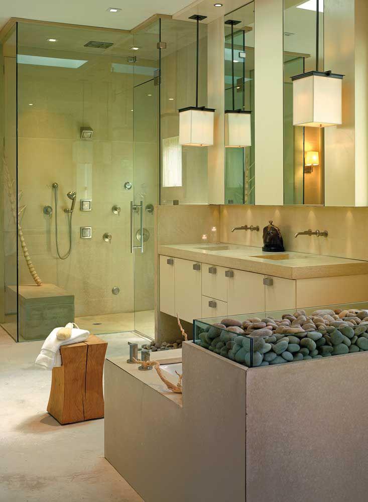 Luxury home spa and five star master bathroom award for Award winning bathroom designs
