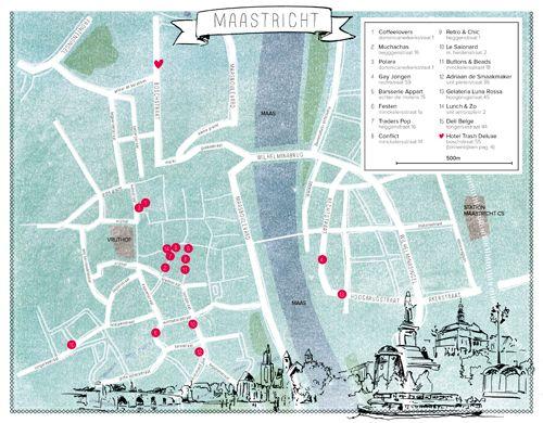 Maastricht hotspots plattegrond