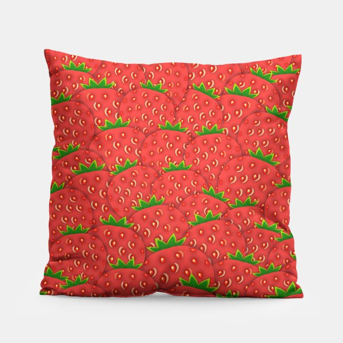 Strawberry Patch Pillow
