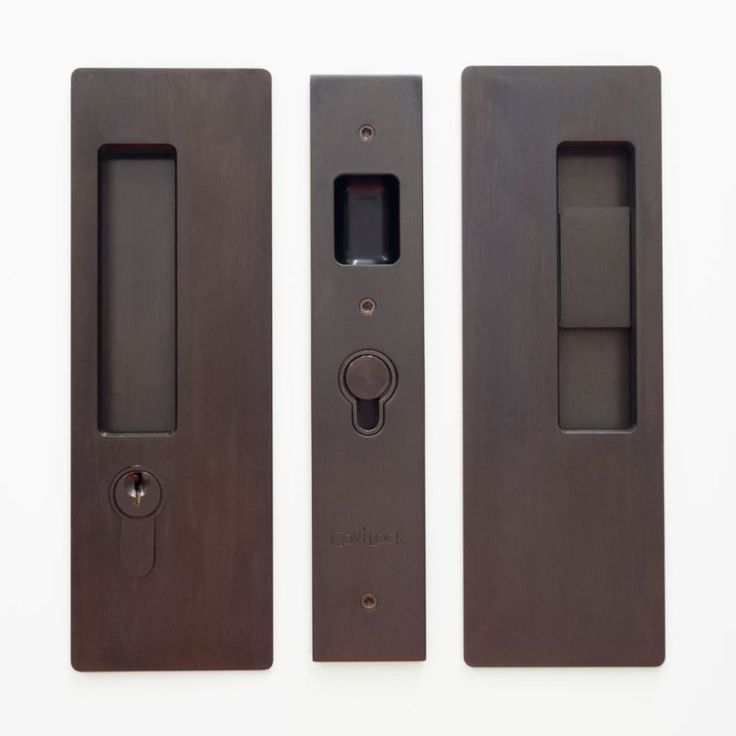 Cavilock CL400C-KE-38-LH Magnetic Latching Left Handed Keyed Entry Pocket Door P Oil Rubbed Bronze Pocket Door Lock Keyed Entry Single Cylinder