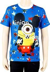 Playful blue printed T-shirt for your junior