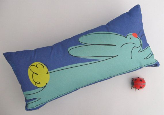 Bunny pillow Maine made by TroskoDesign on Etsy