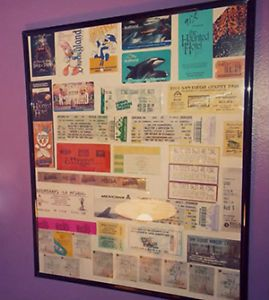 diy how to make a ticket stub collage to decorate your wall