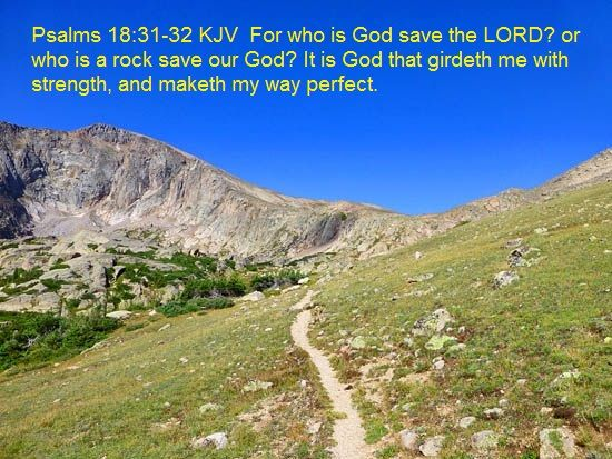 Image result for Psalm 18:31 King James Version (KJV) 31 For who is God save the Lord? or who is a rock save our God?