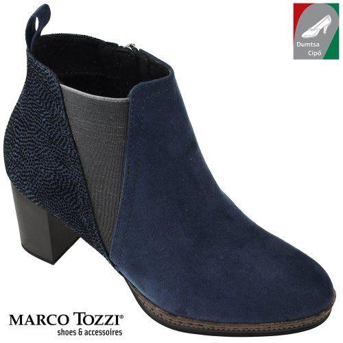 Marco Tozzi női bokacsizma 2-25358-29 890 kék kombi