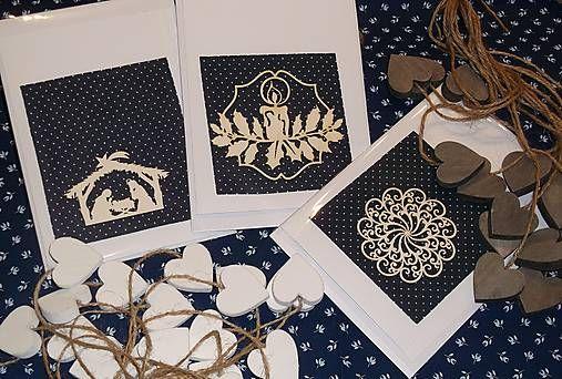 Pohladnicovo / Vianočná pohľadnica s dreveným výrezom