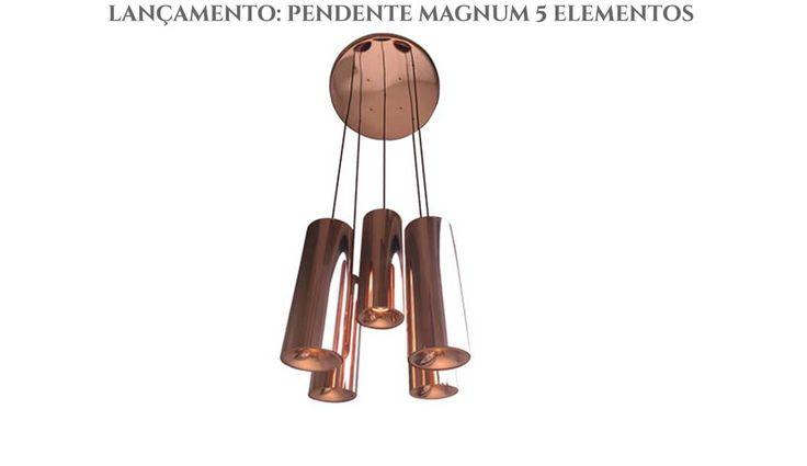 pendente magnum 5 elementos em metal