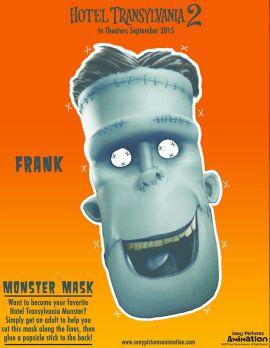 Frank Mask - Hotel Transylvania 2 Activities and Recipes | SKGaleana