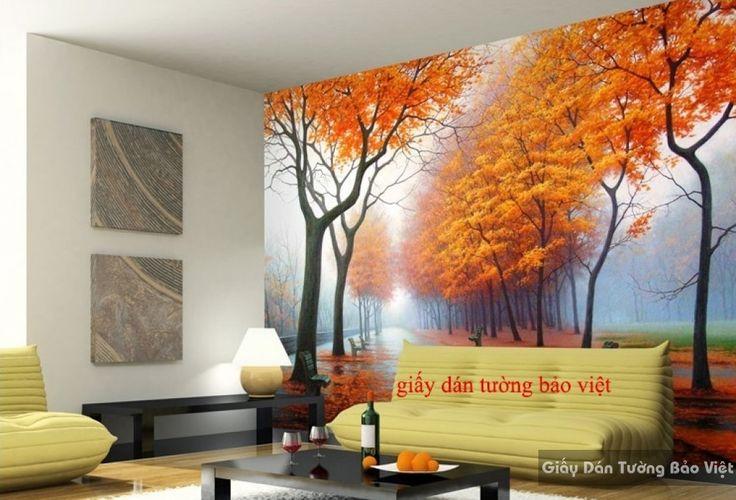 Giấy dán tường phòng khách mùa thu Tr132 | Giấy dán tường Bảo Việt