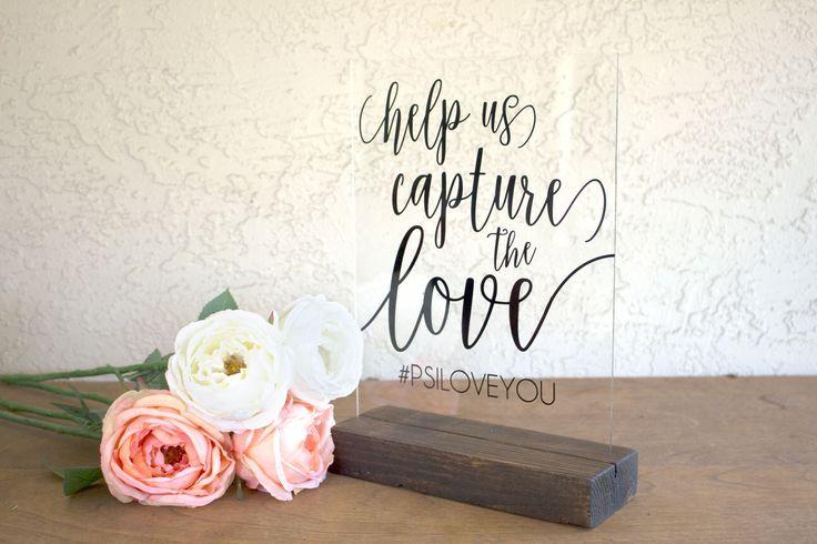 Hashtag Sign - Wedding Hashtag Sign - Capture the Love Sign - Instagram Wedding Sign - Hashtag Wedding Sign - Acrylic Wedding Sign - Acrylic by RichDesignCo on Etsy https://www.etsy.com/listing/471814756/hashtag-sign-wedding-hashtag-sign