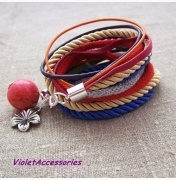 Podwójna bransoletka kolorowa