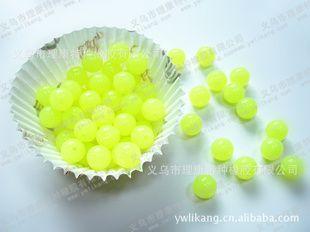 DIY 1MM硅胶黄色桔色串珠手链 散珠可售 0.08元每粒