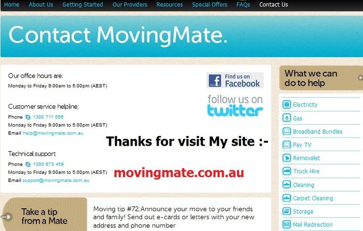http://movingmate.com.au/special-offers To say thank you for using our free online home moving and connection service, we are pleased to reward you with a Visa card up to the value of $100. Connecting different services and plans will earn you varying amounts of credit, which will be displayed on the rewards calculator which is located under the services selection panel.