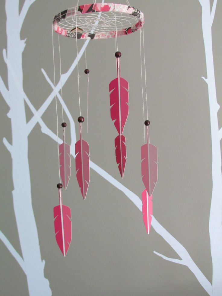 dream catcher baby mobile. My neighbor wanted me to look up dreamcatchers. Great babyshower gift