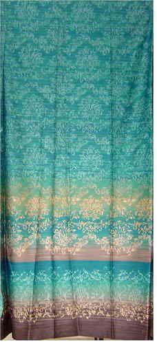 Zucchi Deko Stoff Opera Blau Türkis 290x268 Dekostoff Baumwolle, Für Vorhang  | EBay