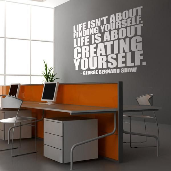 Elegant Creating Yourself Office Wall Sticker