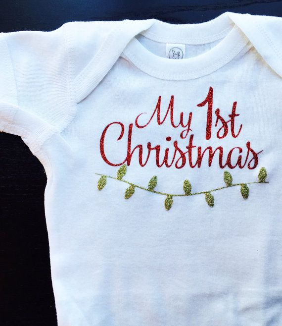 My 1st Christmas onesie // first christmas by JamieVanNuysDesigns