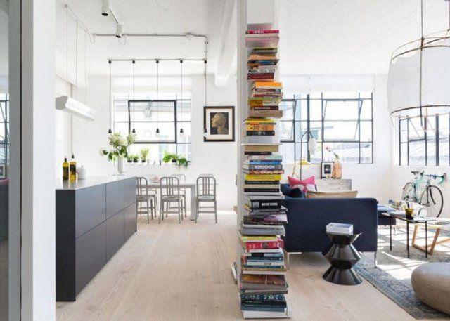 Une colonne de livres pour optimiser l'espace