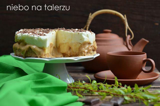 Ciasto bez pieczenia - banoffee pie, łatwe ciasto - deser , ratunek dla tych, którzy nie mają piekarnika czy właśnie teraz nie mają ochoty go używać.
