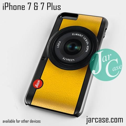 lemon yellow leica camera Phone case for iPhone 7 and 7 Plus