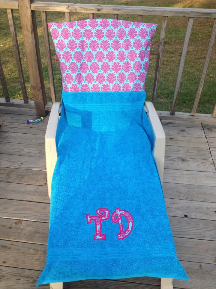 9 best images about Monogrammed Lounge Chair Covers & Beach Towels on Pin