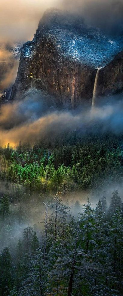 Yosemite National Park, California, USA - title Serpentine Vapors at Yosemite - by William Toti