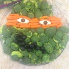 Teenage Mutant Ninja Turtle Birthday Party Veggie Tray   best stuff
